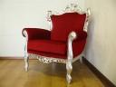 poltrona-in-tessuto-barocco-rossa