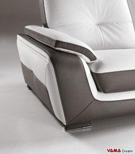 Bracciolo divano moderno bicolore