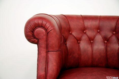 Poltroncina classica in pelle da camera e da ufficio