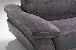 Divano moderno con poggiatesta recliner in tessuto