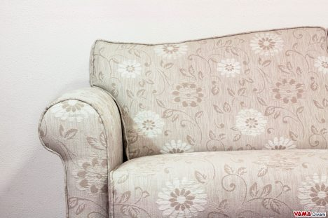 Bracciolo e seduta Divano Letto in tessuto floreale
