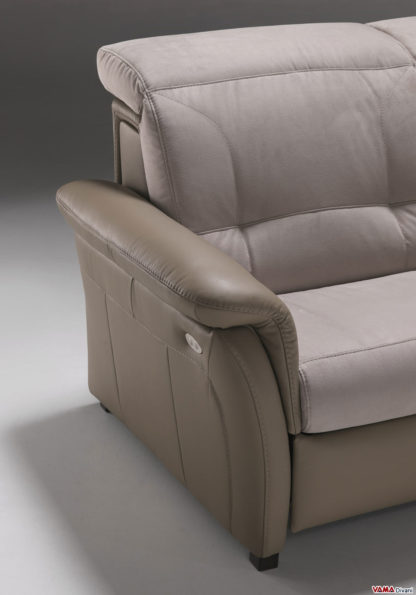 Divano relax elettrico 3 posti reclinabile