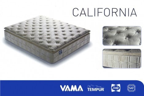 Materasso a molle modello California - Tempur Sealy