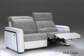 Divano relax elettrico in microfibra