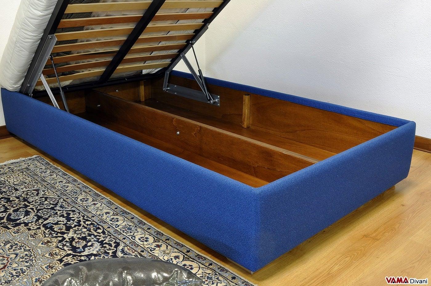 Letto alla francese con contenitore sommier vama divani - Costruire letto contenitore ...