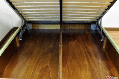 Letto matrimoniale con contenitore interno in legno multistrato resistente