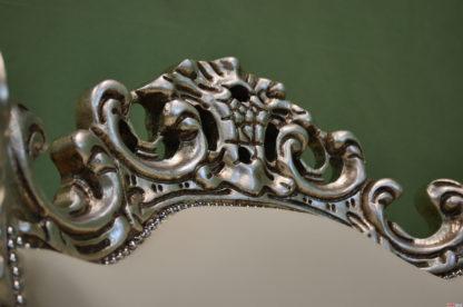 Cornice barocca in foglia argento