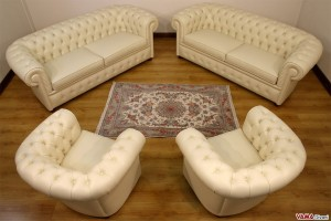 Divani e Poltrone Chesterfield in pelle beige