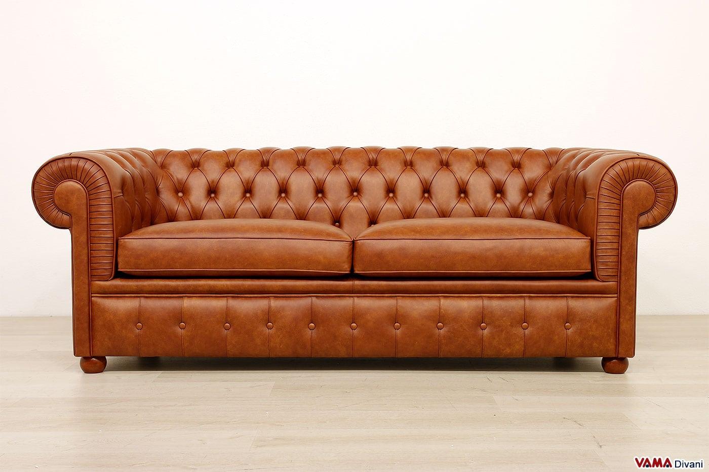 Divano chesterfield large vama divani - Divano letto 2 metri ...