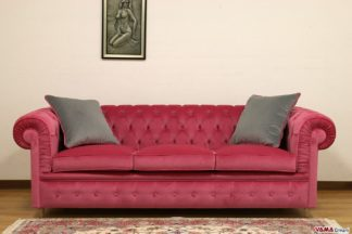 Divano Chesterfield in velluto