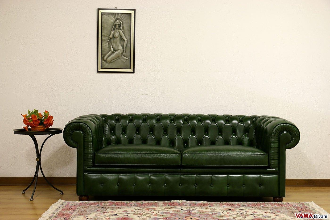Divano Letto Pelle Verde ~ Idee creative del moderno ...
