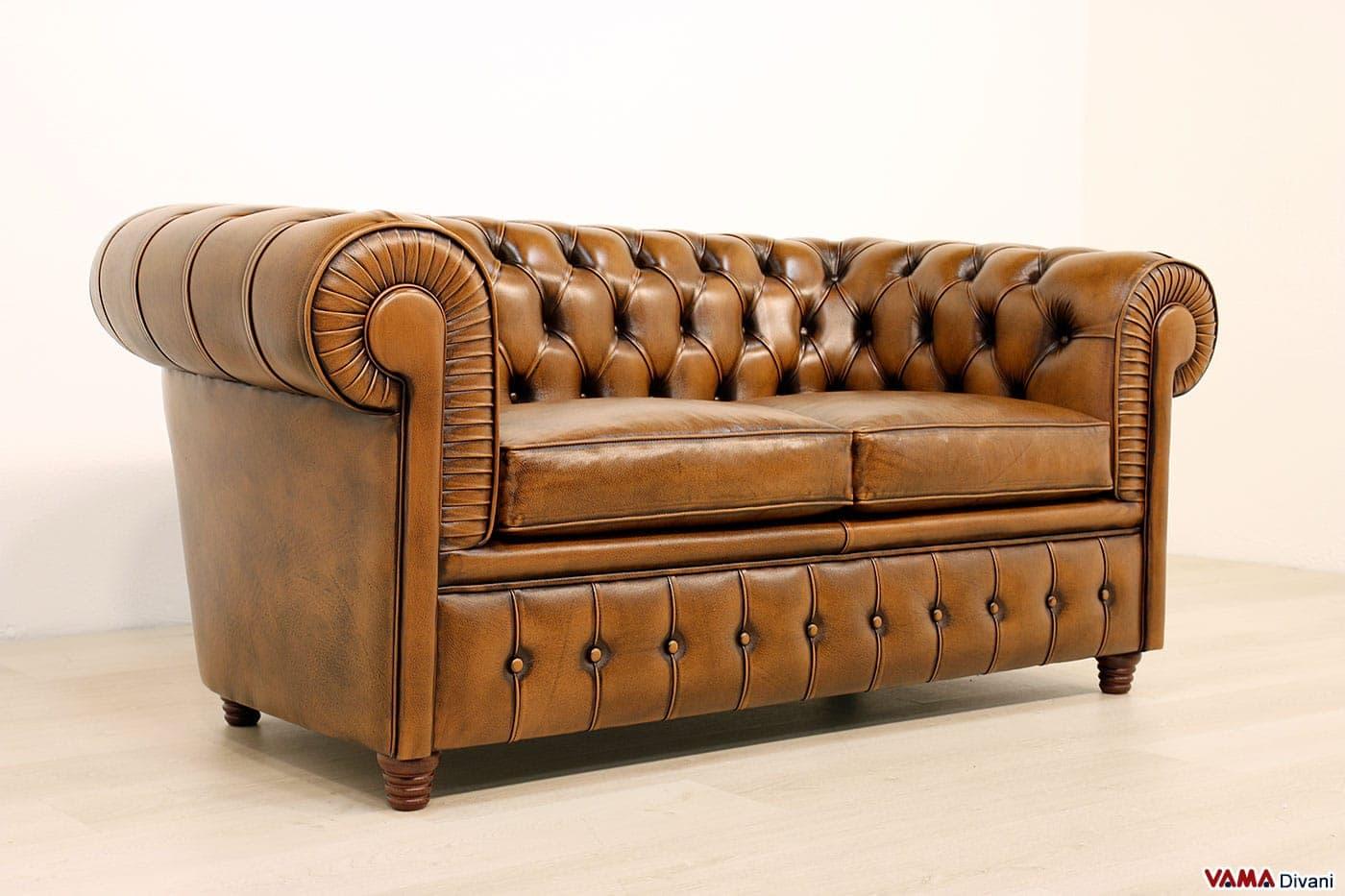 Divano chesterfield 2 posti vama divani for Divano 2 posti usato