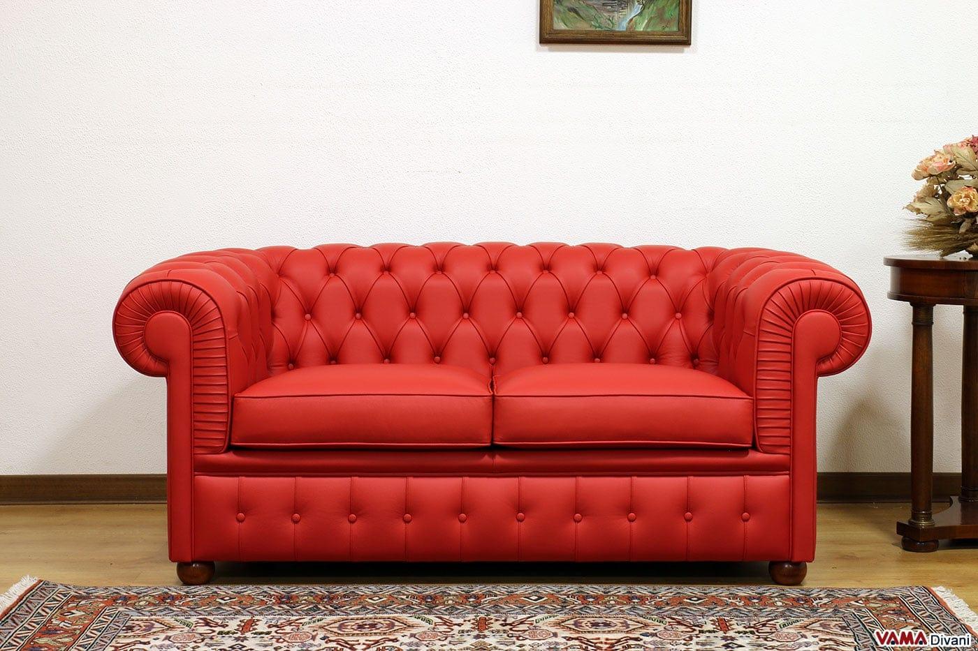 Divano chesterfield 2 posti prezzo rivestimenti e misure for Smart relax divano letto prezzo