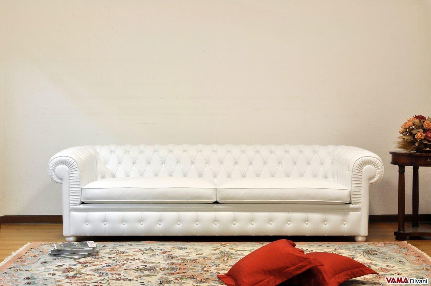 Divano chesterfield bianco idee per il design della casa - Divano chesterfield ...