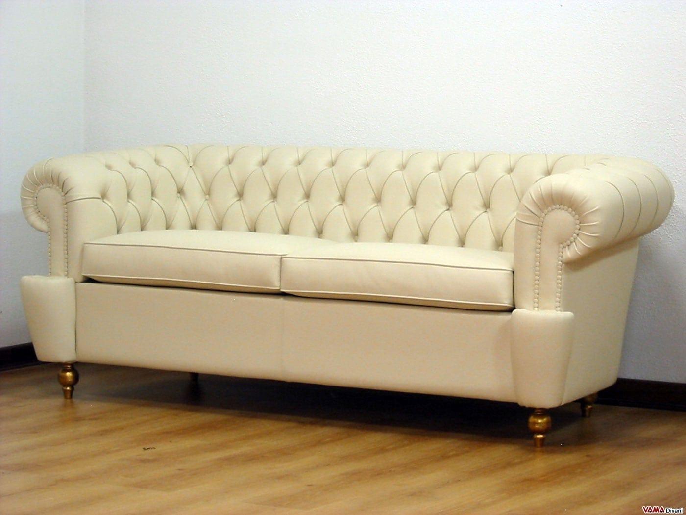 Divano chesterfield copridivano elegante - Copridivano per divano in pelle ...