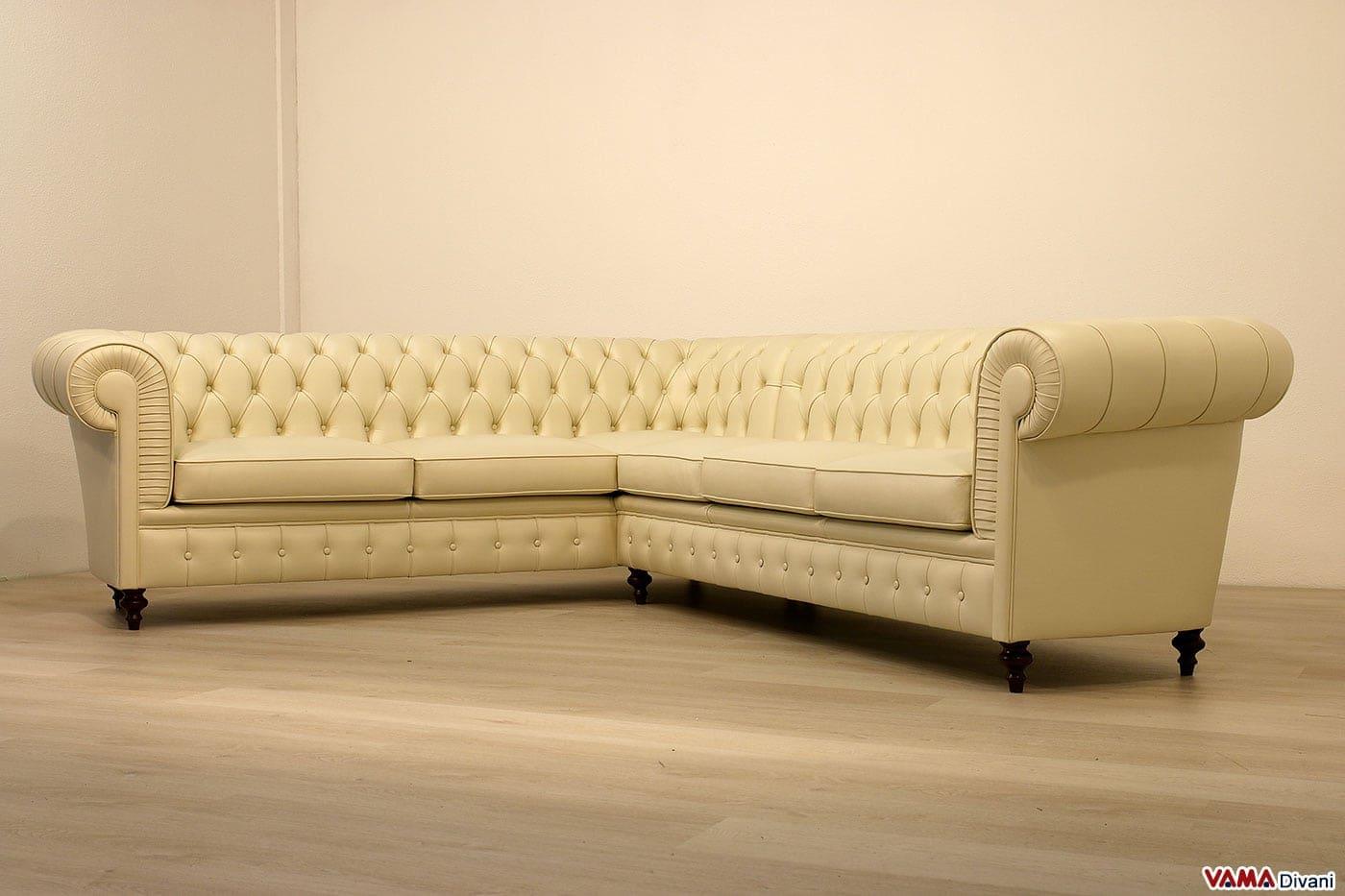 Divano chesterfield angolare vama divani - Divano ad l ...