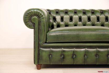 Bracciolo divano Chesterfield in stile inglese
