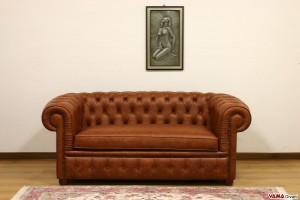 Divano Chesterfield con seduta unica vintage