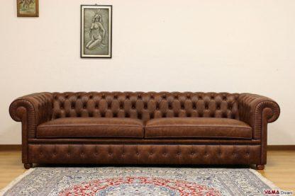 Divano Chesterfield profondo 106 cm grandi dimensioni