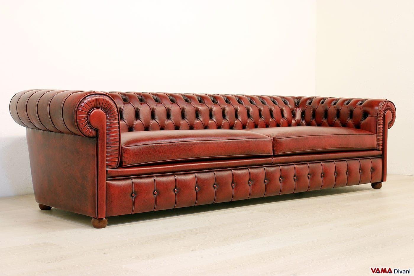 Divano chesterone divano chesterfield bianco pi profondo - Divano profondo 60 cm ...