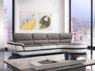 divano angolare grande in pelle