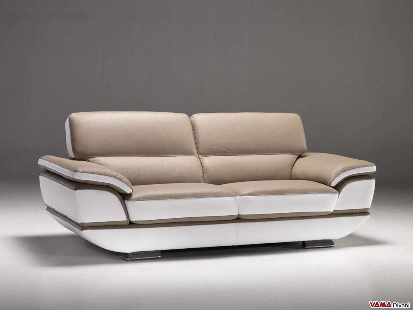 Divano angolare moderno in pelle con angolo inferiore a 90 - Copridivano angolare per divano in pelle ...