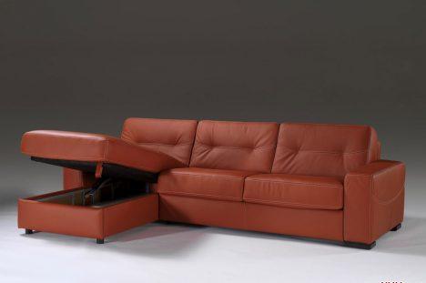 Divano Letto Angolare con Chaise longue Contenitore