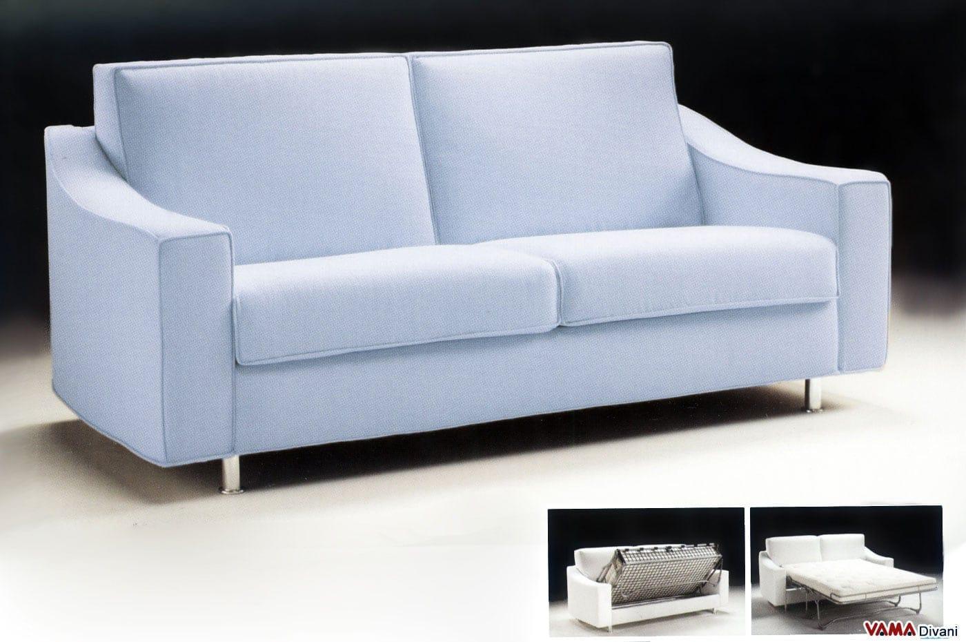 Divano letto moderno matrimoniale in tessuto sfoderabile - Letto a divano ...