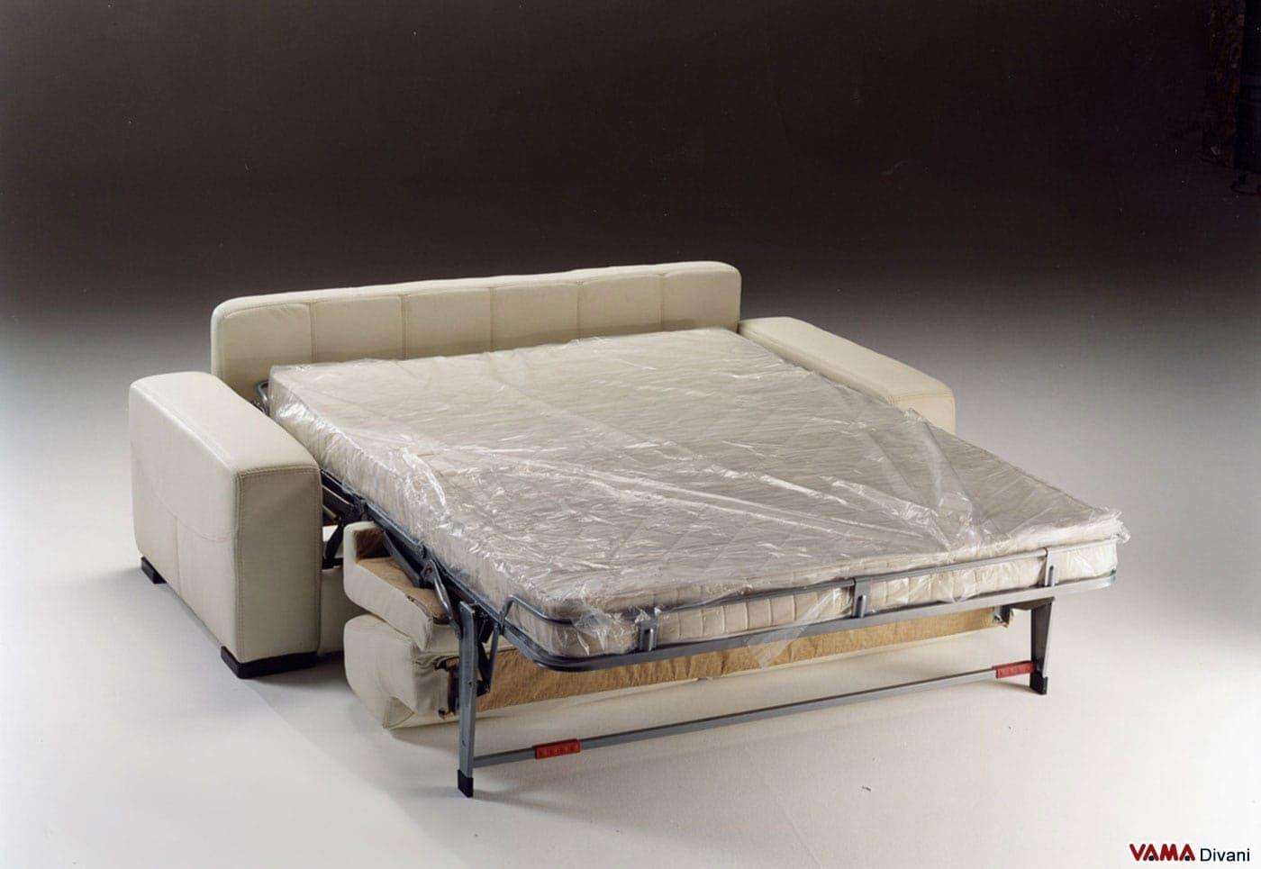 Divano letto in pelle lido a vama divani for Divano letto in pelle prezzi