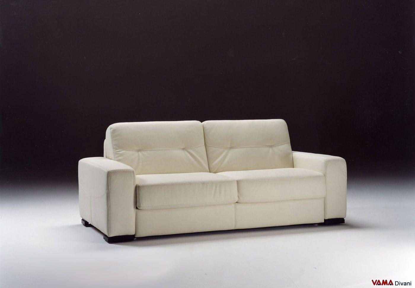 Divano letto in pelle lido a vama divani for Divani e divani divani letto