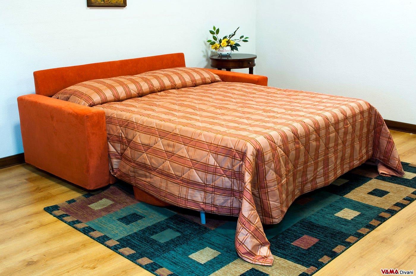 Divano letto ecomatrix vama divani - Divano letto 160 cm ...