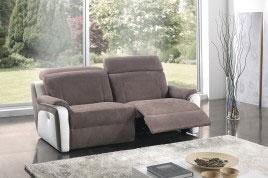 Divano reclinabile elettrico con poggiatesta e poggiapiedi