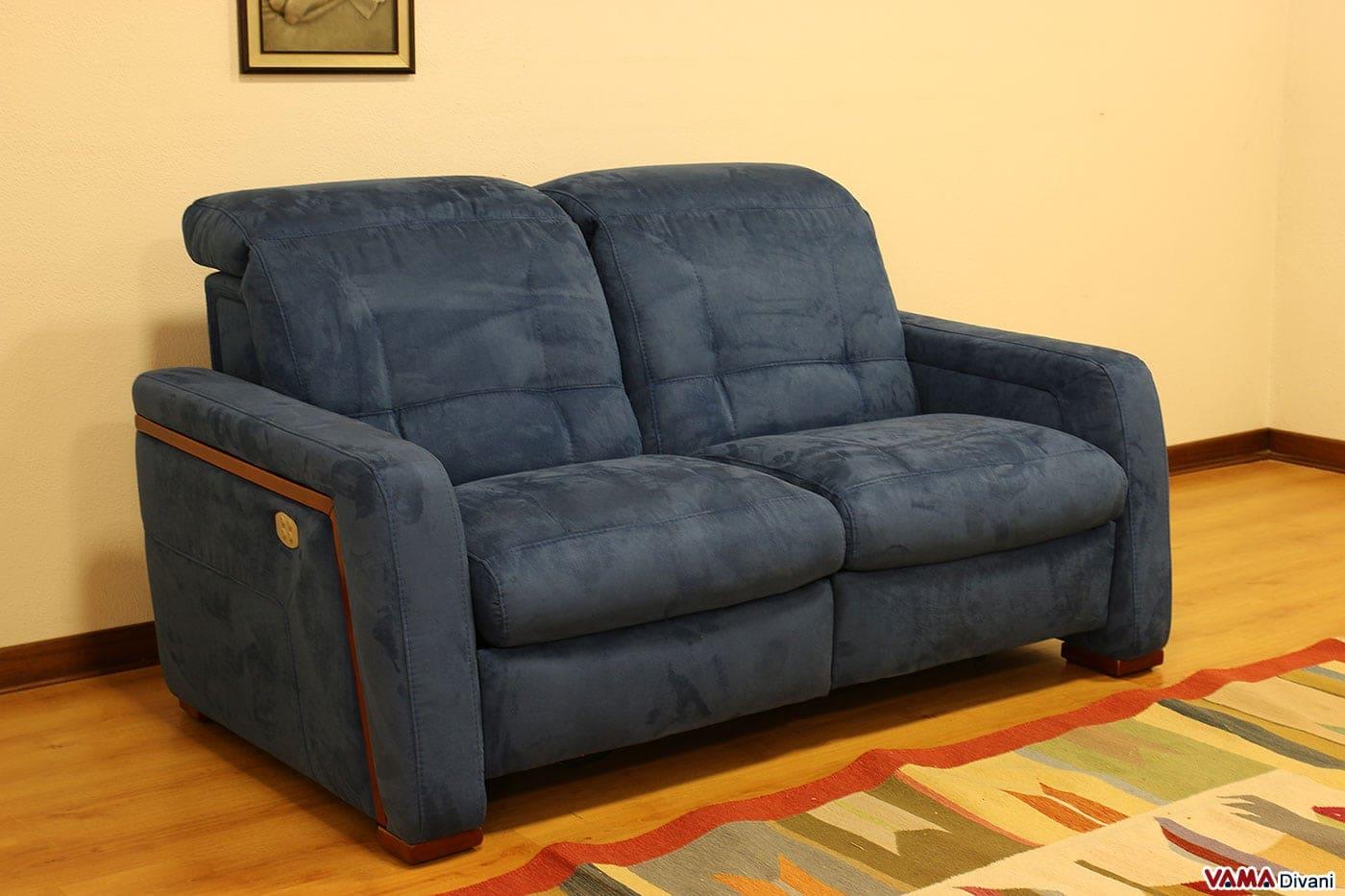 Divano con relax elettrico senza telecomandi - Microfibra divano ...
