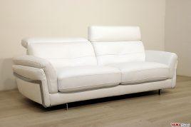 Divano moderno in pelle bianco