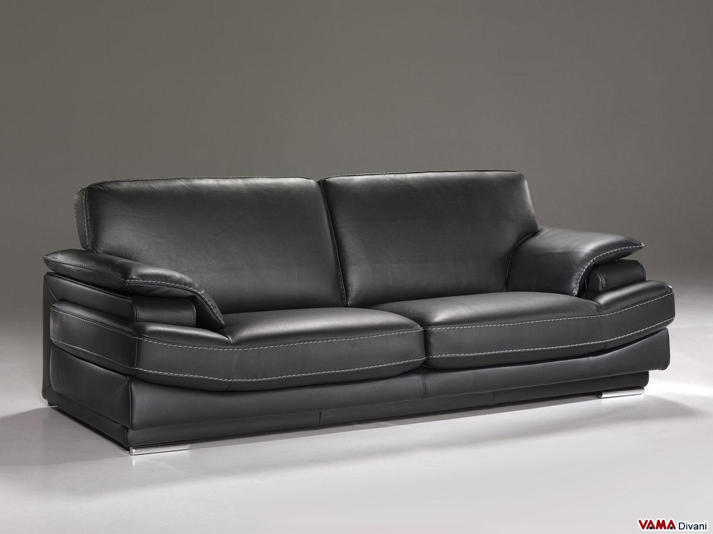 Divano particolare montgomery vama divani - Divano in pelle nero ...