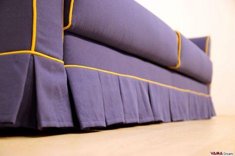 Divano letto classico in tessuto sfoderabile