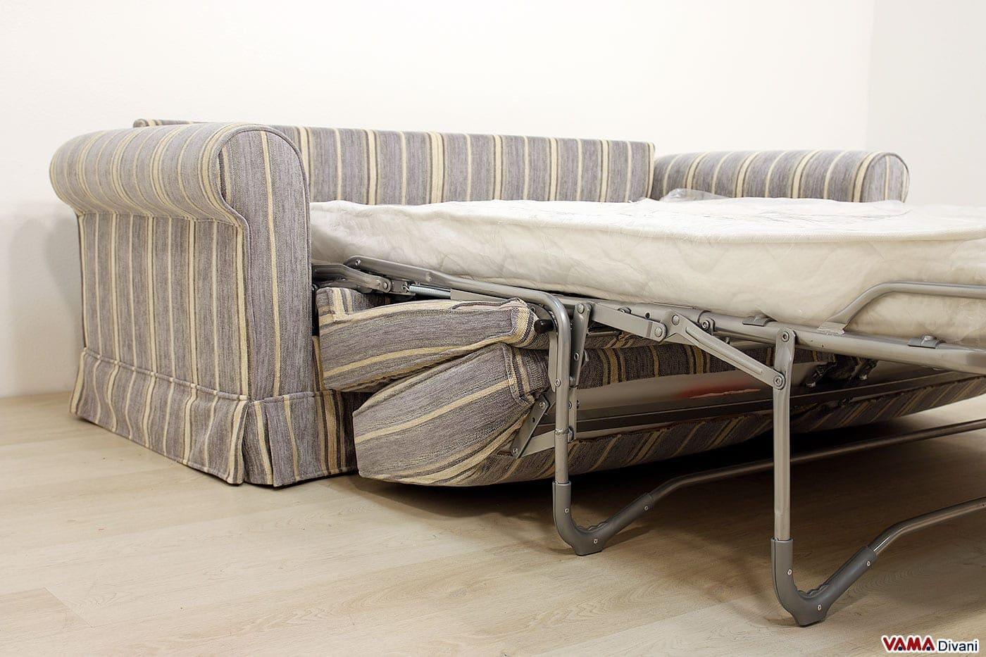 Divano letto matrimoniale in stile tradizionale in tessuto - Divano letto con materasso ortopedico ...