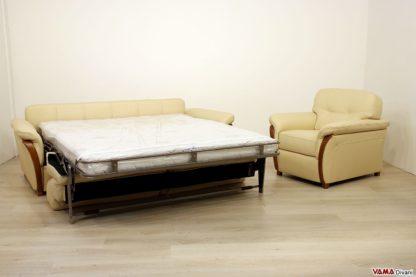 Salotto con divano letto matrimoniale