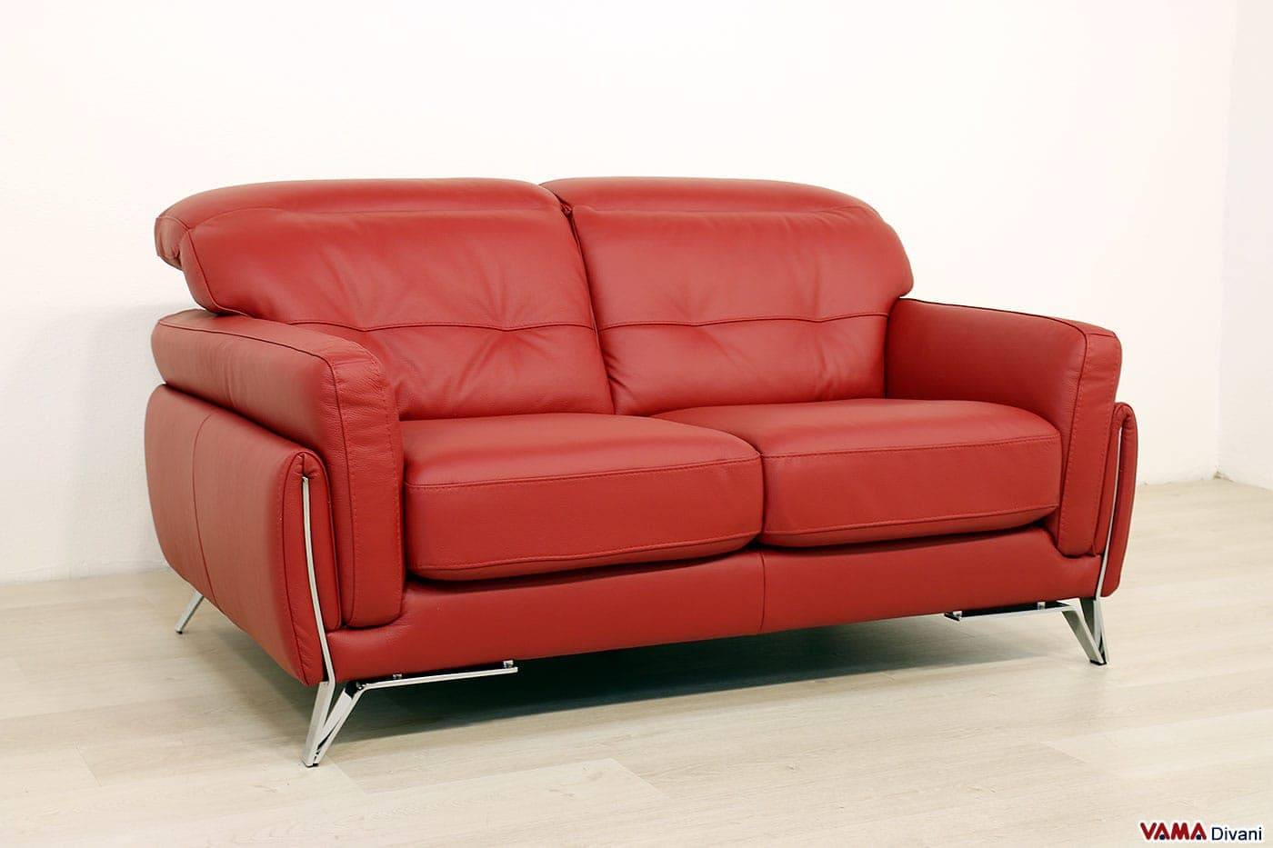 Divano in pelle di design ster vama divani - Divano 2 posti dimensioni ...