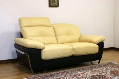 Divano moderno giallo e marrone