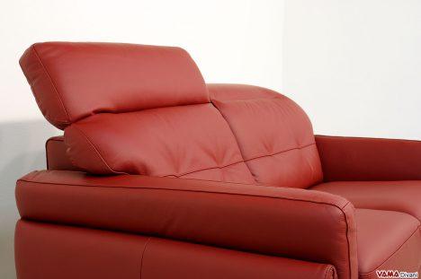 Divano moderno con poggiatesta reclinabili