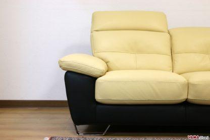Seduta divano bicolore con piedino alto