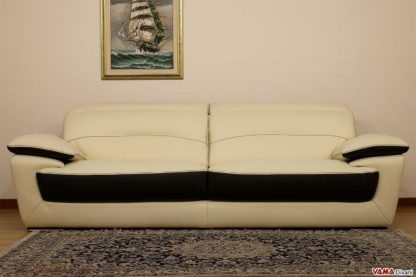 Grande divano 3 posti in pelle