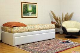 Doppio letto singolo estraibile