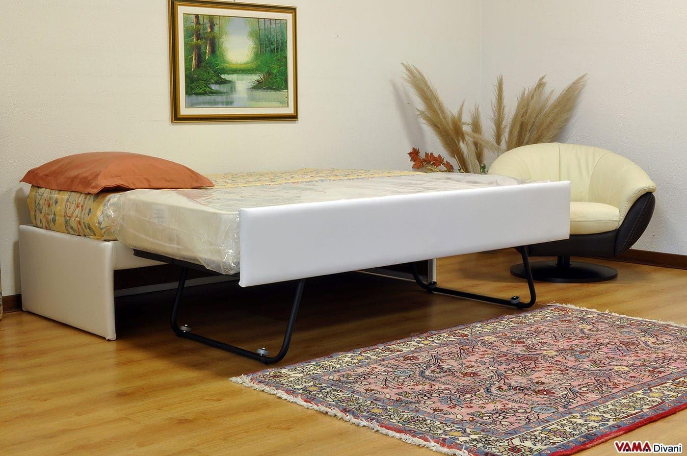 Doppio letto singolo estraibile a scomparsa con reti a doghe - Rete per letto singolo ...