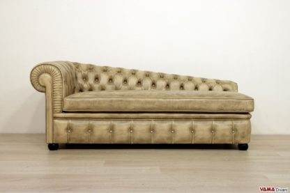 Divanetto dormeuse vintage classico chesterfield