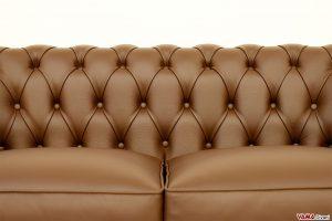 Lavorazione capitonnè Chesterfield divani in pelle
