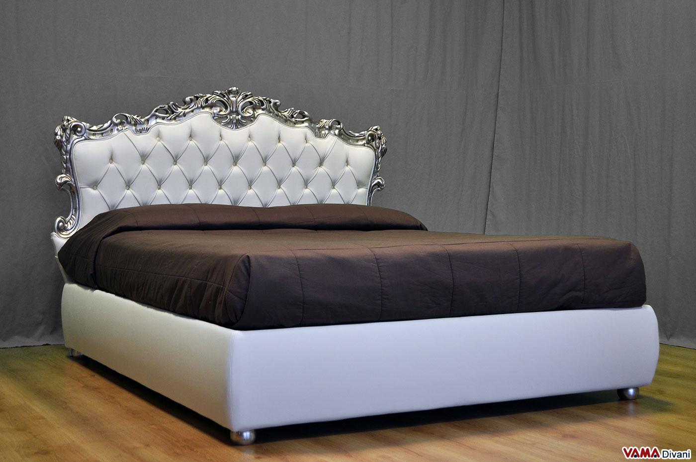 Letto barocco con testata in capitonn e con contenitore - Dove comprare un letto matrimoniale ...