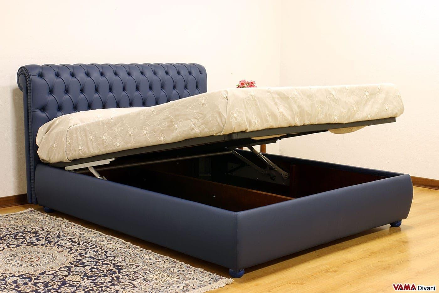 Letto chesterfield vama divani for Divano letto in pelle prezzi