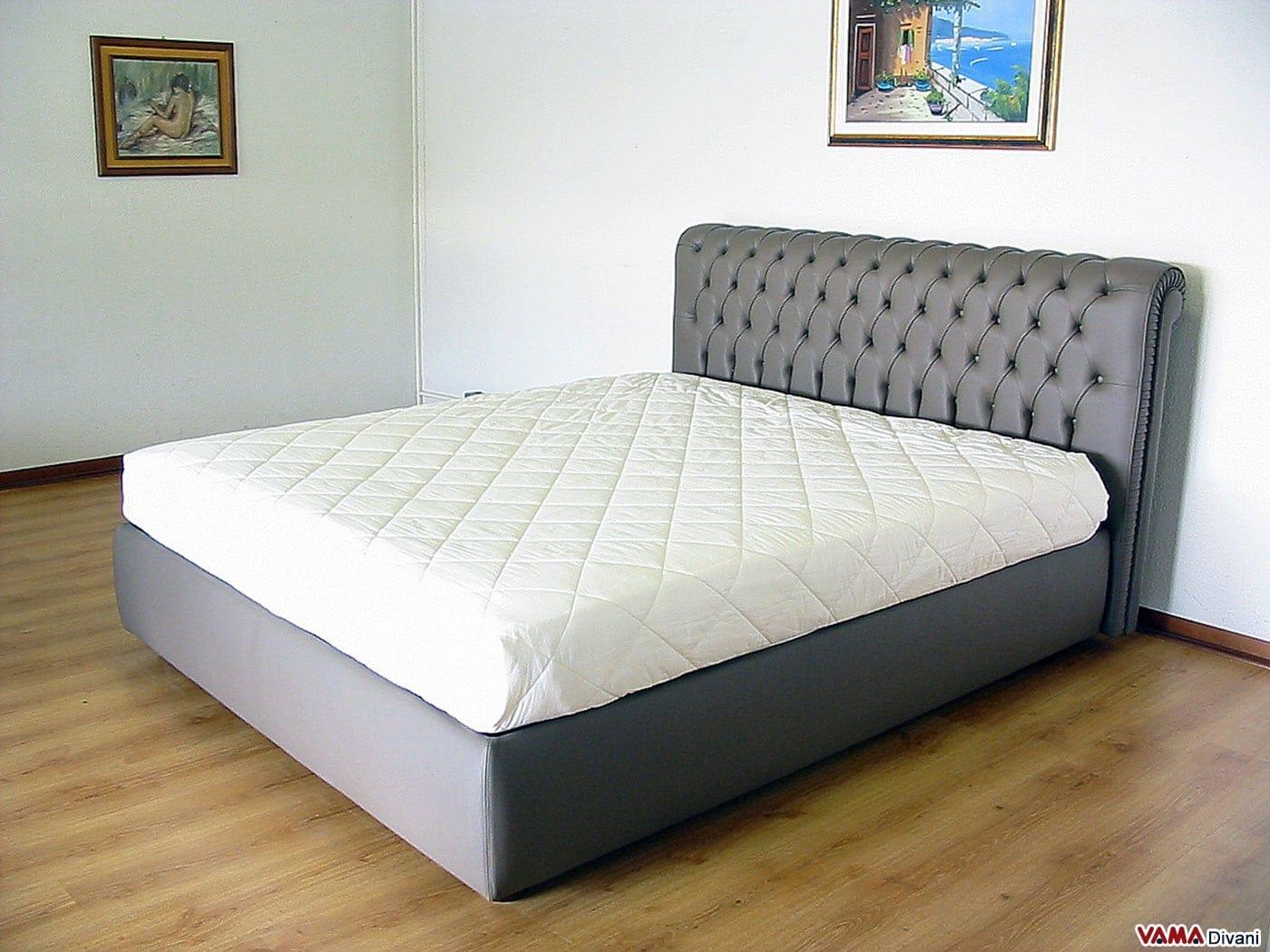 Letto matrimoniale in vera pelle in stile chesterfield - Dove comprare un letto matrimoniale ...